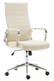 Bürostuhl 136 kg belastbar creme Stoffbezug Chefsessel Drehstuhl modern design