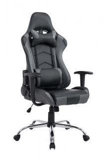 XL Bürostuhl schwarz grau Chefsessel Kunstleder Gaming Gamer Zockersessel neu