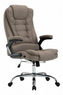 XL Bürostuhl 150kg belastbar taupe Stoffbezug Chefsessel Drehstuhl Computerstuhl