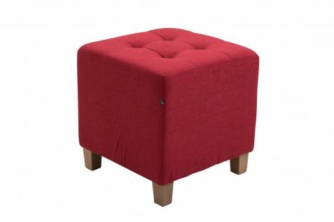 Sitzhocker Stoffbezug rot Sitzwürfel Sitzbank Hockerbank antik Vintage Ottomane