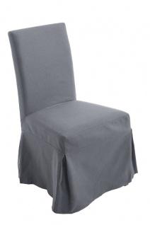 Esszimmerstuhl Stoff dunkelgrau Bezug abnehmbar Küchenstuhl Eichenholz design