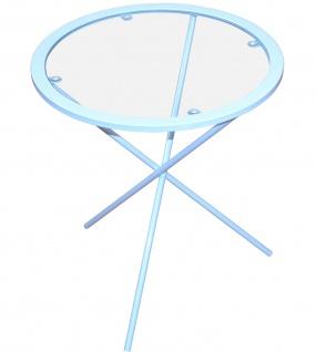 Beistelltisch weiß Tisch Glastisch Couchtisch Glas Glasplatte rund günstig neu