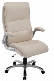 XL Chefsessel 150kg belastbar creme Stoffbezug Bürostuhl robust stabil Drehstuhl