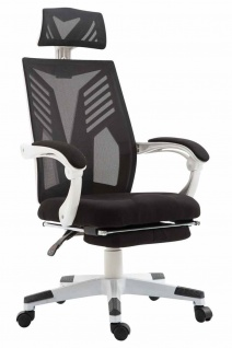 Bürostuhl bis 120kg belastbar schwarz weiß Chefsessel Netzbezug modern design