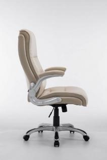 XL Chefsessel 150 kg belastbar creme Kunstleder Bürostuhl große schwere Personen - Vorschau 4