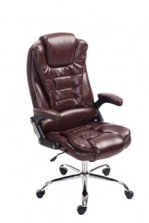 XL Chefsessel bis 150 kg belastbar bordeauxrot Bürostuhl Kunstleder hochwertig