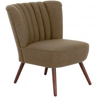 Retro Sessel Flachgewebe Leinenoptik Einzelsessel Loungesessel Vintage design