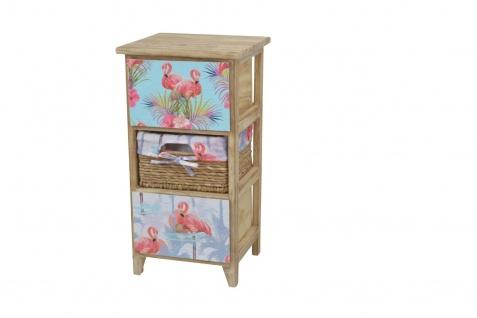 Kommode 3 Schubkästen Flamingo massivholz natur Anrichte Standregal romantisch