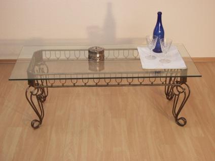 Beistelltisch Tisch Couchtisch Beitisch antik eisen braun goldfarben Glas design