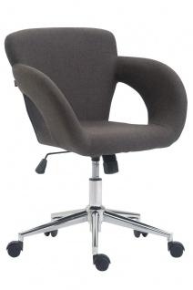 Bürostuhl Stoff dunkelgrau 136kg belastbar Drehstuhl modern design stylisch neu