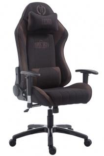 XL Bürostuhl 150 kg belastbar braun schwarz Stoffbezug Chefsessel Zocker Gamer