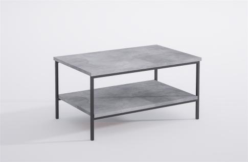 moderner Couchtisch Metall Beton edler Wohnzimmertisch Sofatisch design günstig