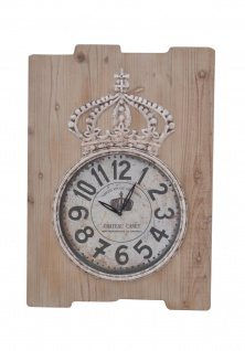 Wanduhr natur Uhr massivholz antik vintage look nostalgie quarzlaufwerk quarz