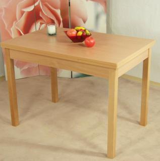 Auszugtisch Buche teilmassiv Esstisch Esszimmertisch Küche Esszimmer ausziehbar