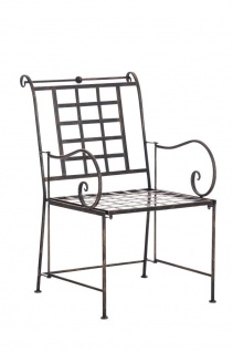 Gartenstuhl antik bronze Lounge Garten Terrasse Nostalgie design Vintage Eisen