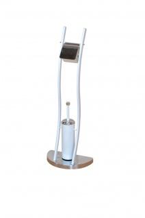 Toilettengarnitur weiß WC-Bürste Klobürste Garnitur Toilettenbürste WC Ständer