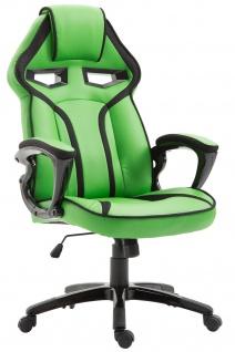 Bürostuhl 115kg belastbar grün Kunstleder Chefsessel sportlich modern design