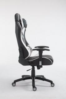 XL Bürostuhl 150 kg belastbar schwarz weiß Chefsessel Zocker Gamer Gaming - Vorschau 3