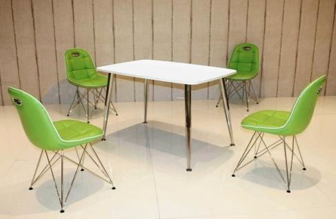 Tischgruppe mint/weiß Essgruppe Esszimmergruppe Schalenstuhl modern design D2