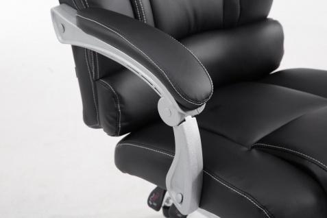 XXL Bürostuhl 150kg belastbar schwarz Kunstleder Chefsessel Fußablage Drehstuhl - Vorschau 5