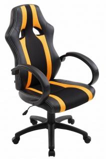 XL Bürostuhl 136kg belastbar schwarz gelb Kunstleder Chefsessel schwere Personen