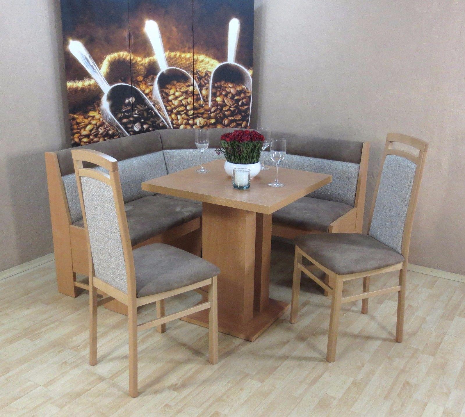 Sympathisch Stühle Für Esstisch Dekoration Von Truheneckbankgruppe Buche Natur Csuperbuccino Essgruppe 2 X