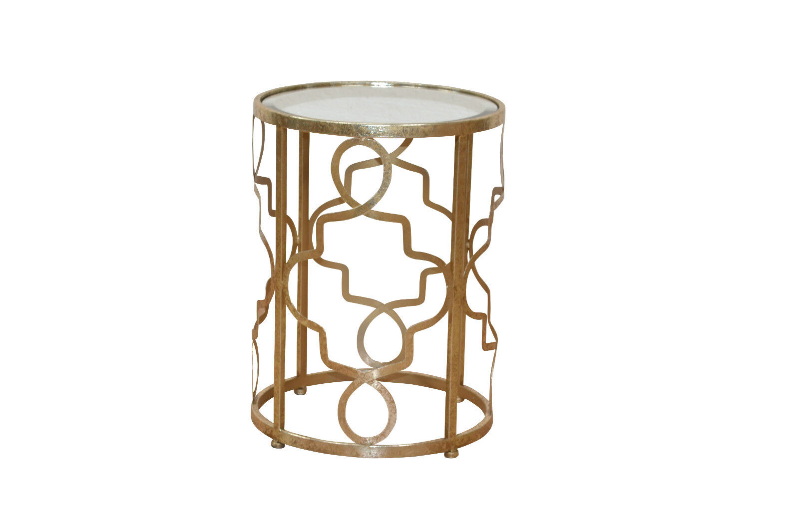 Metalltisch rund Goldfarben Tisch Beistelltisch antik Konsole ...
