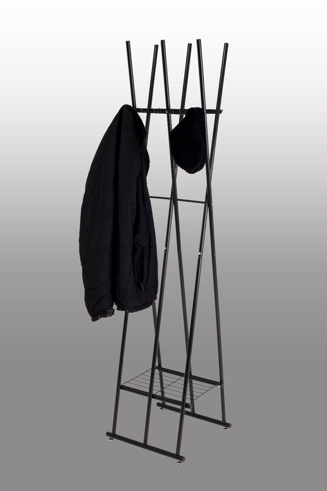 Kleiderständer Modern kleiderständer schwarz stehgarderobe mit schuhablage modern günstig