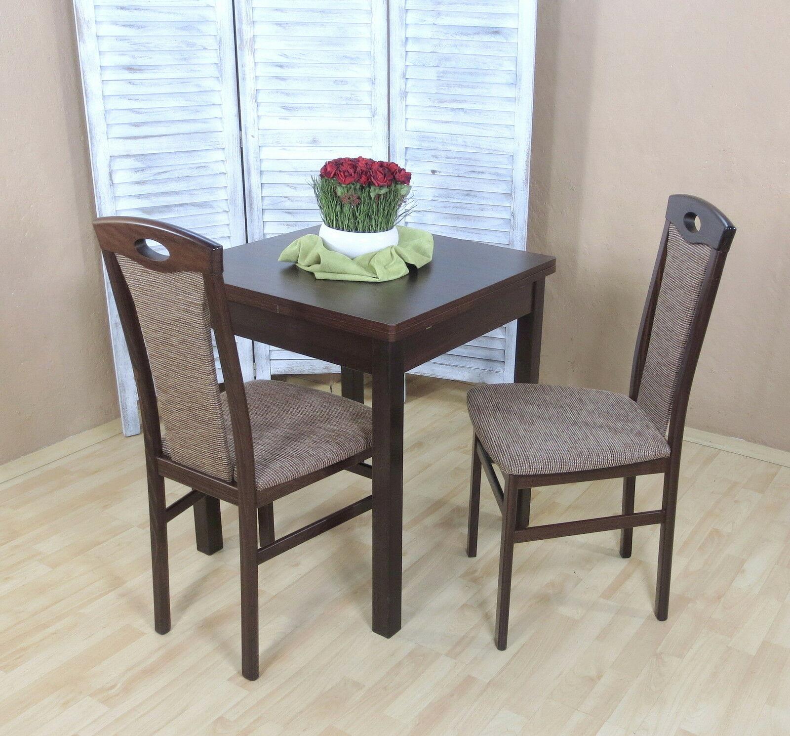 Tischgruppe Massiv Buche Nussbaum Cappuccino Stuhlset Stuhle Set