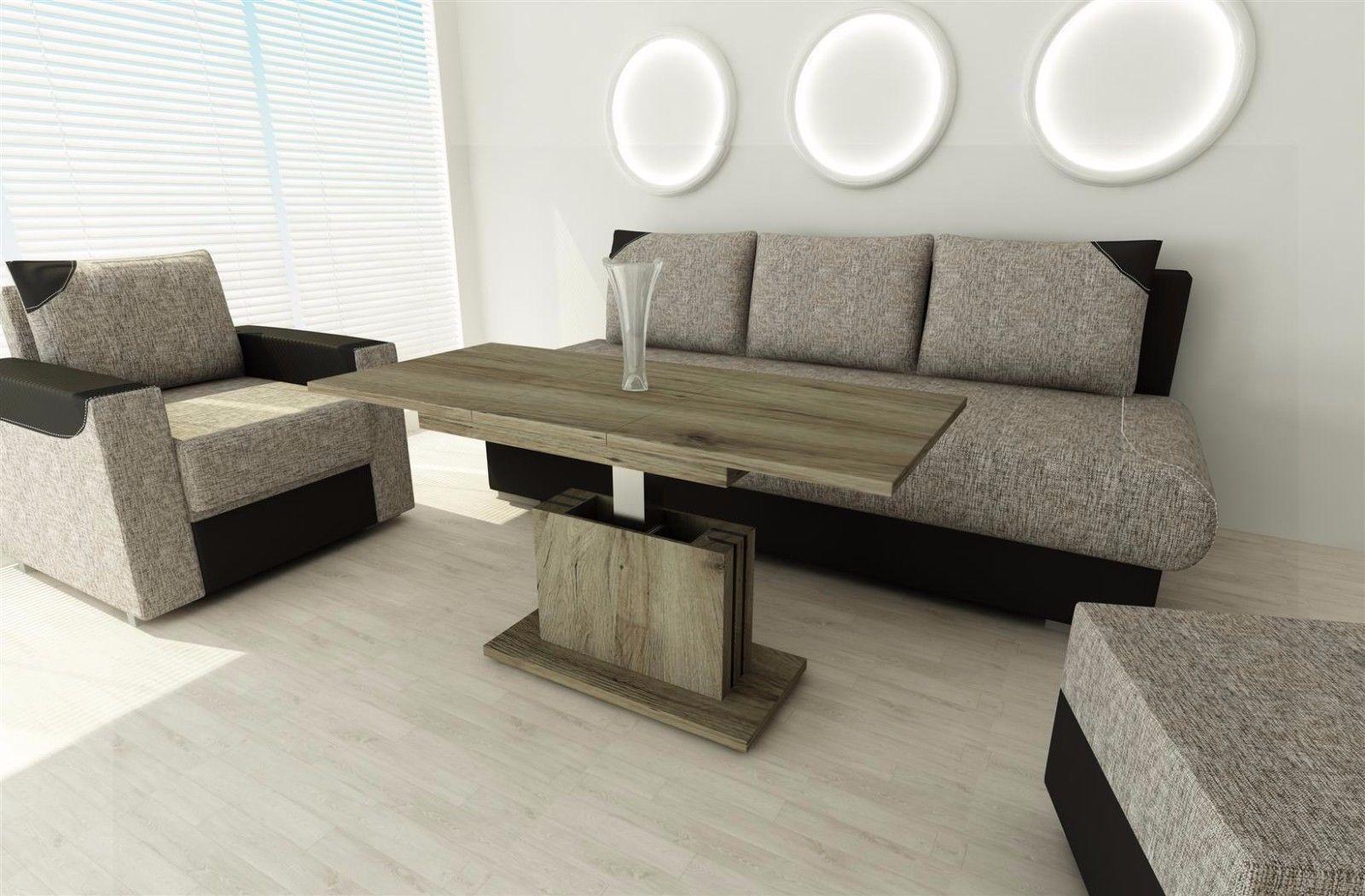 Beeindruckend Couchtisch Eiche Dunkel Das Beste Von San Remo Ausziehbar Wohnzimmer Design Modern Sofatisch