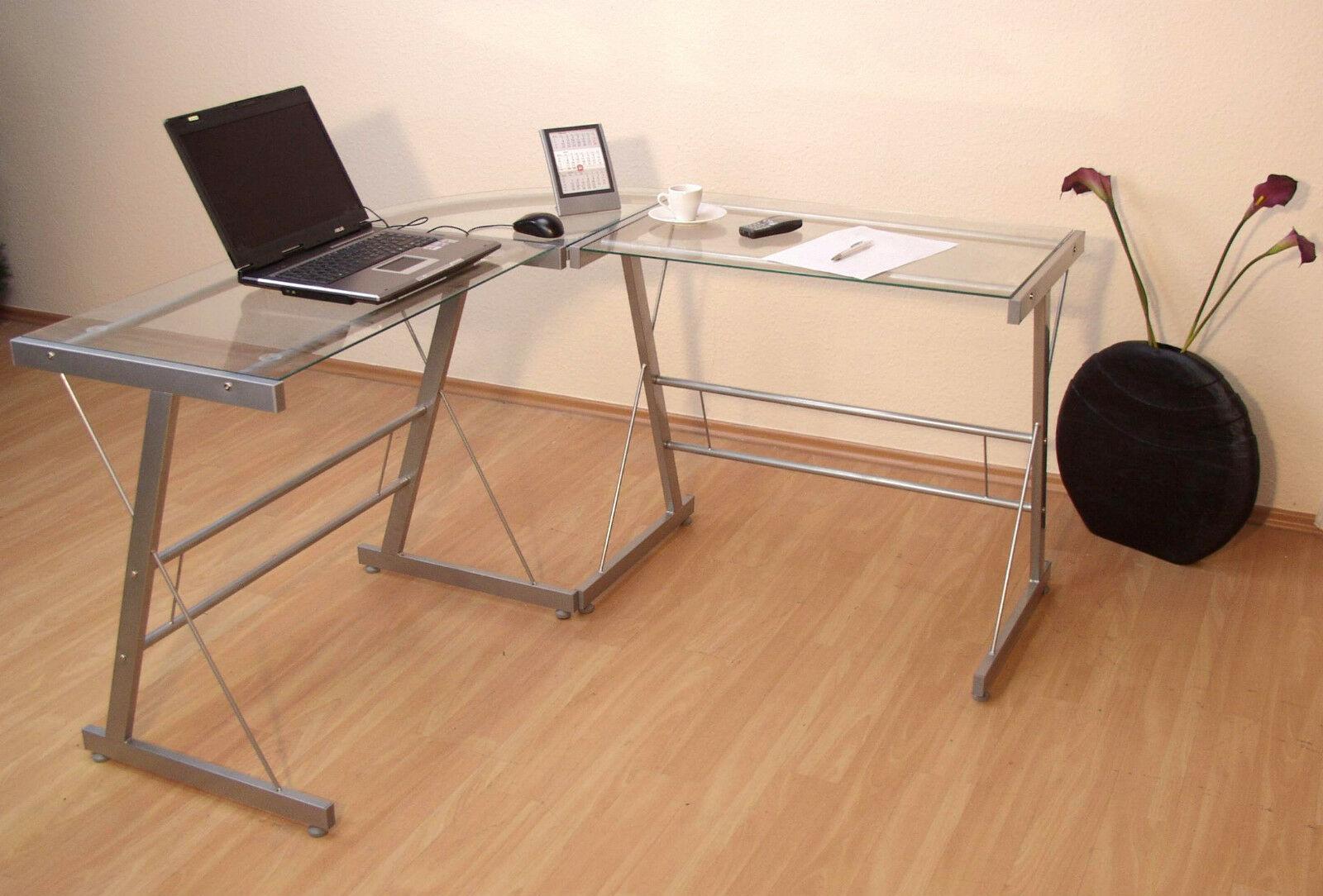 Schreibtisch winkel for Pc tisch ahorn