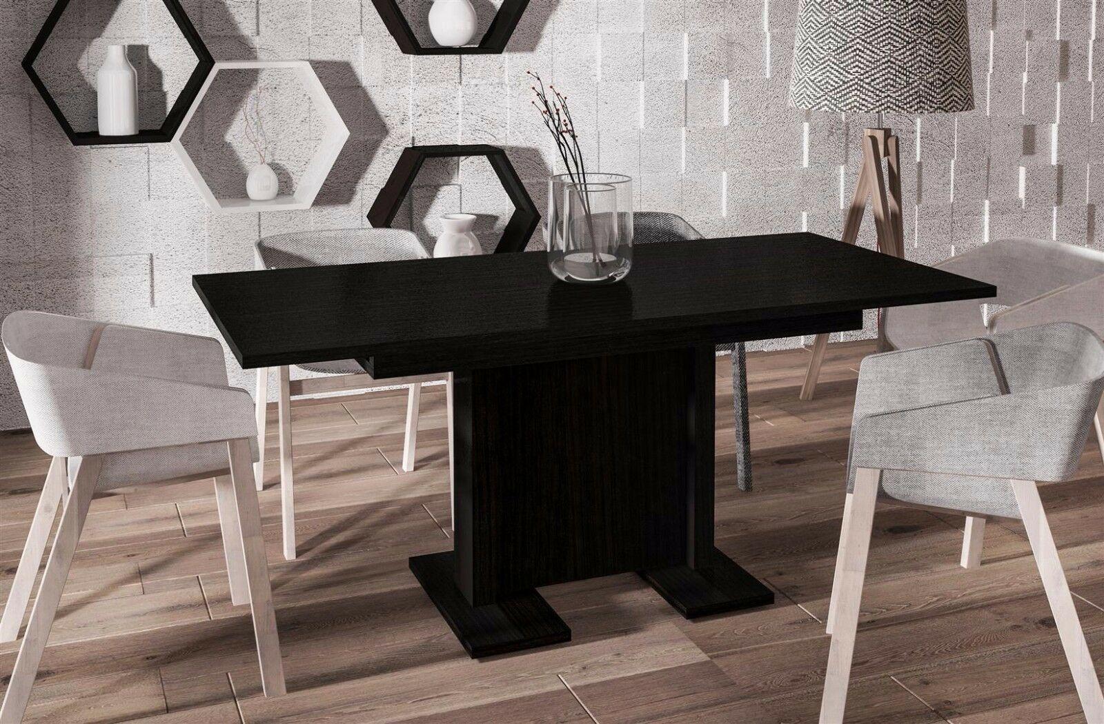Hochwertiger Säulentisch Wenge 130 210 Ausziehbar Esstisch Modern Design  Günstig