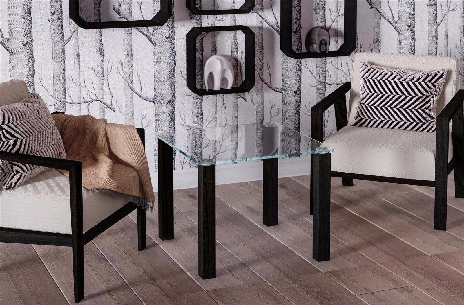 Design Glastisch Wenge Kleiner Beistelltisch Couchtisch Modern