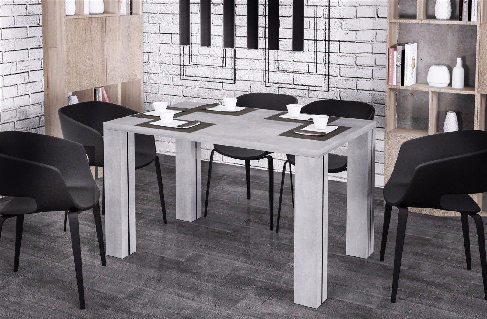 Inspirierend Esstisch Küche Dekoration Von Hochwertiger 130-265 Cm Beton Esszimmertisch Küche Auszug