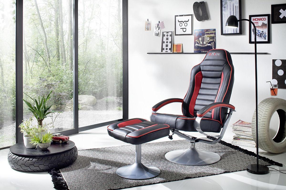 Relaxsessel Modern Günstig Relaxsessel Mit Hocker Schwarz Rot Fernsesessel  Relaxset Modern .