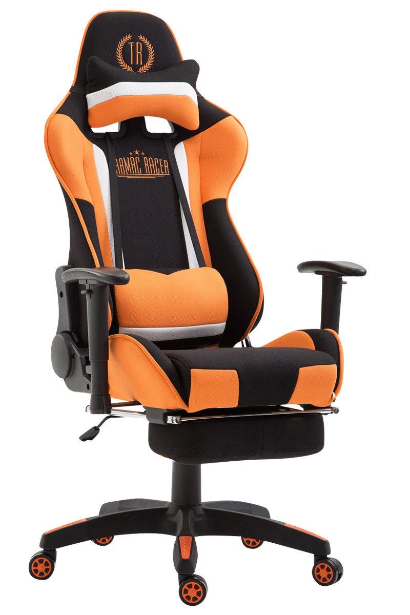 Xl Chefsessel Schwarz Orange Stoffbezug Burostuhl Modern Design