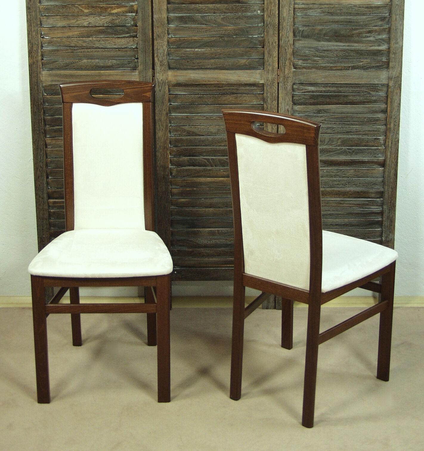 2 X Stuhle Massivholz Esszimmerstuhle Stuhlset Esszimmer Nussbaum