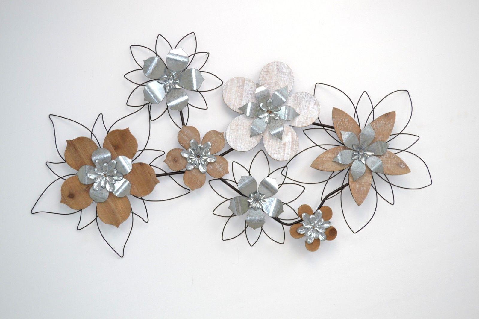 Design wanddekoration bl ten metall wandbild wanddeko wandrelief deko modern kaufen bei go perfect - Wanddekoration metall ...