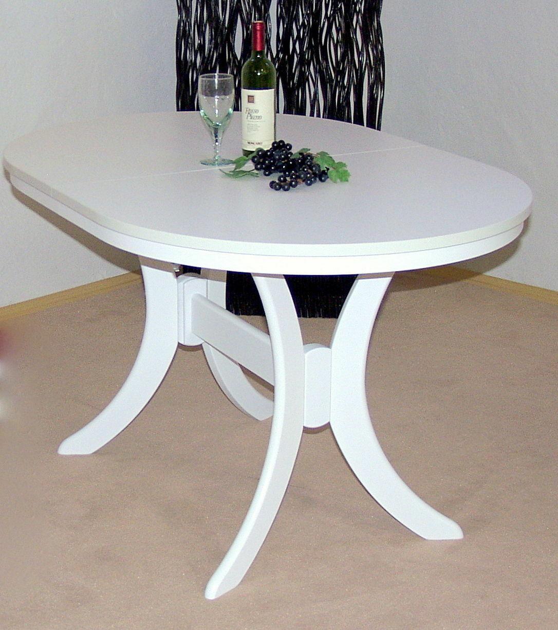 Moderner Esstisch Ausziehbar Weiß Esszimmertisch Küchentisch
