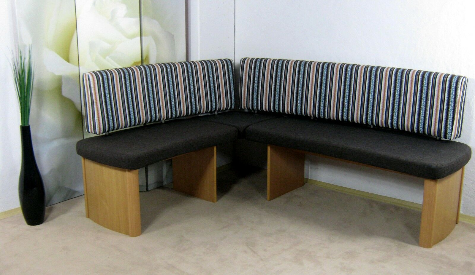 Moderne Eckbank Mocca Blau Sitzecke Esszimmer Kuchenbank Essecke