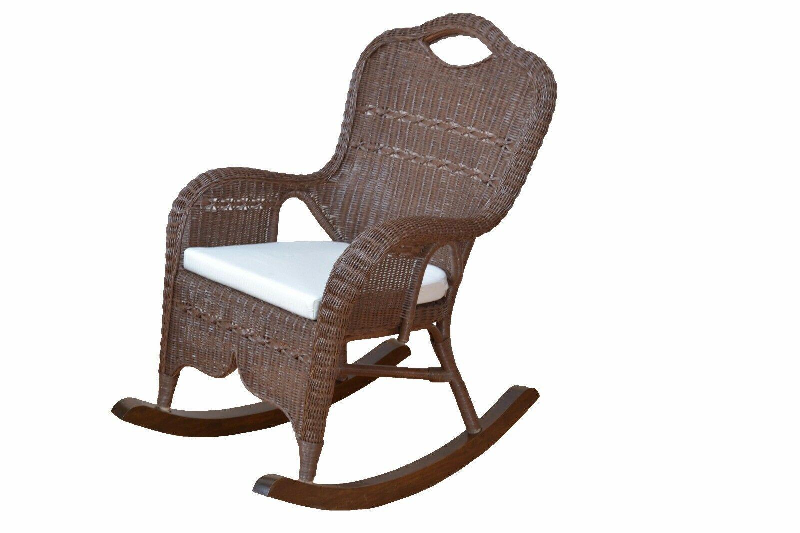 Moderner Schaukelstuhl moderner schaukelstuhl rattan braun gebeizt lackiert rattansessel
