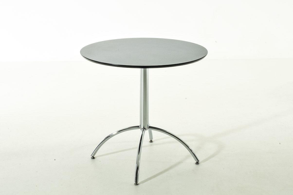 Moderner Esstisch Schwarz Rund Küchentisch Esszimmertisch Tisch Design  Verchromt 1 ...