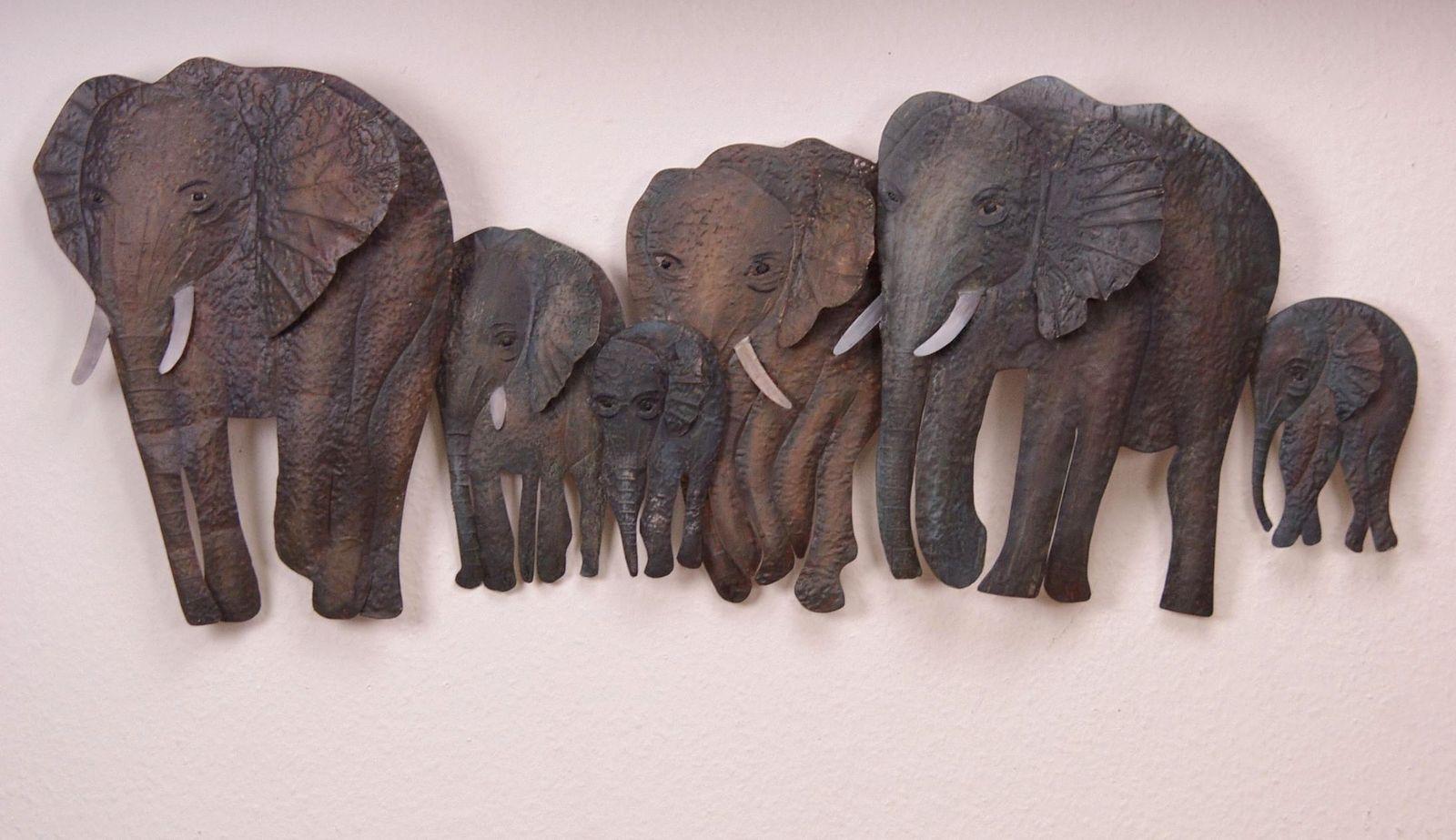 Elefanten Wandbild Dekoration trendige Wanddeko Deko 3D Wandrelief ...