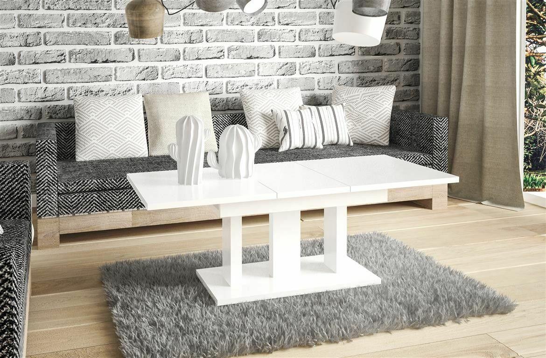 Couchtisch Weiss Wohnzimmer Ausziehbar Auszug Modern Design Edler