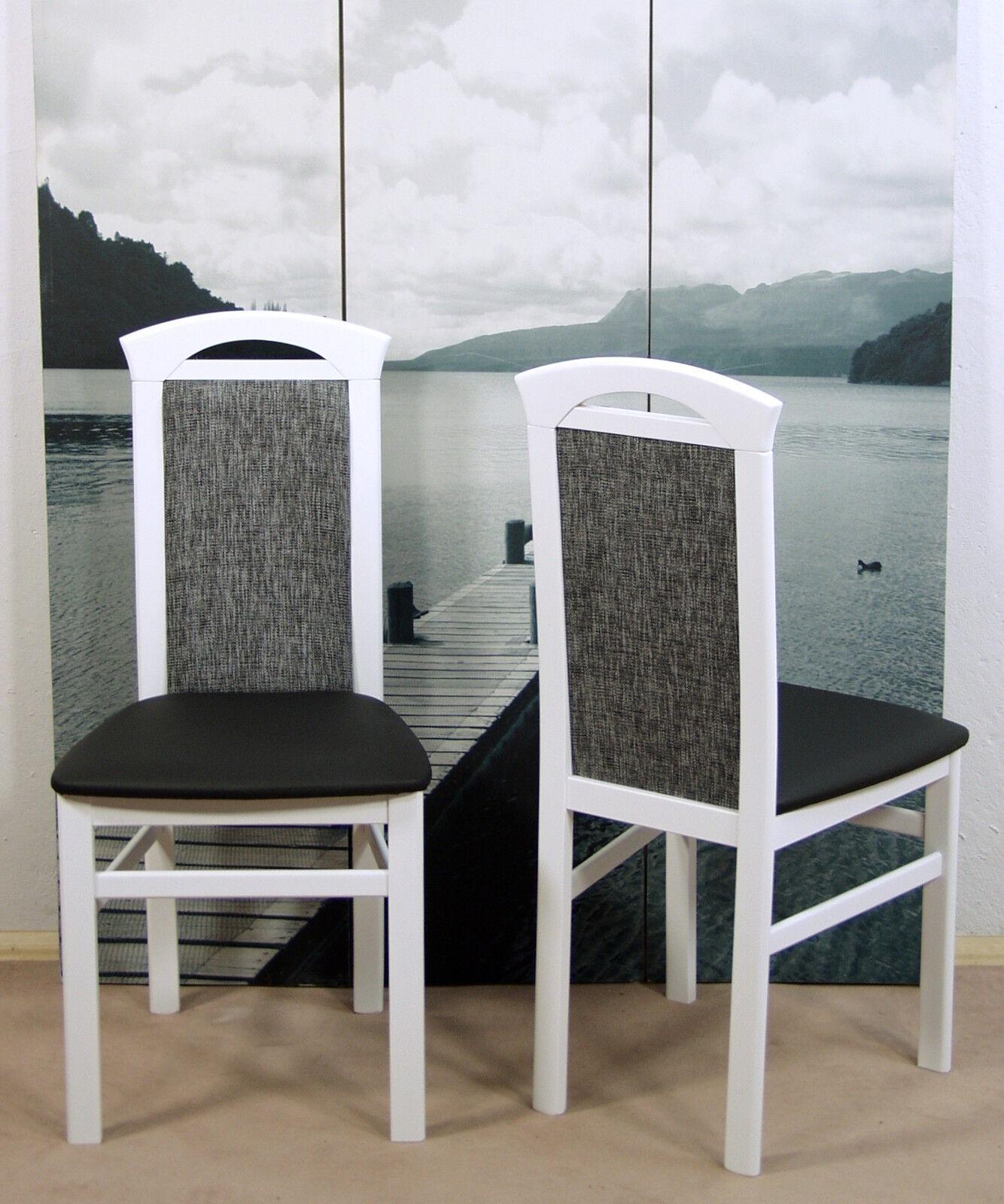 Modern Schwarz Set Stuhlset 2er Stühle X Weiß Esszimmerstühle Neu Design Stuhl 2 rxBeCod