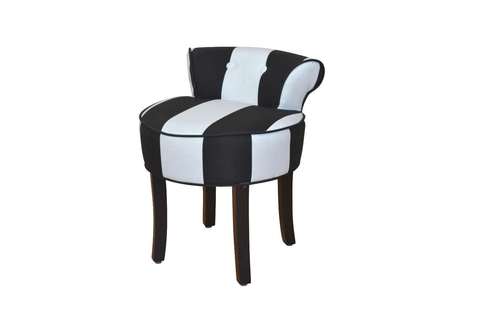 Hocker modern stoff  Sitzhocker Stoff schwarz weiß Hocker Sitz Rückenlehne massiv modern ...