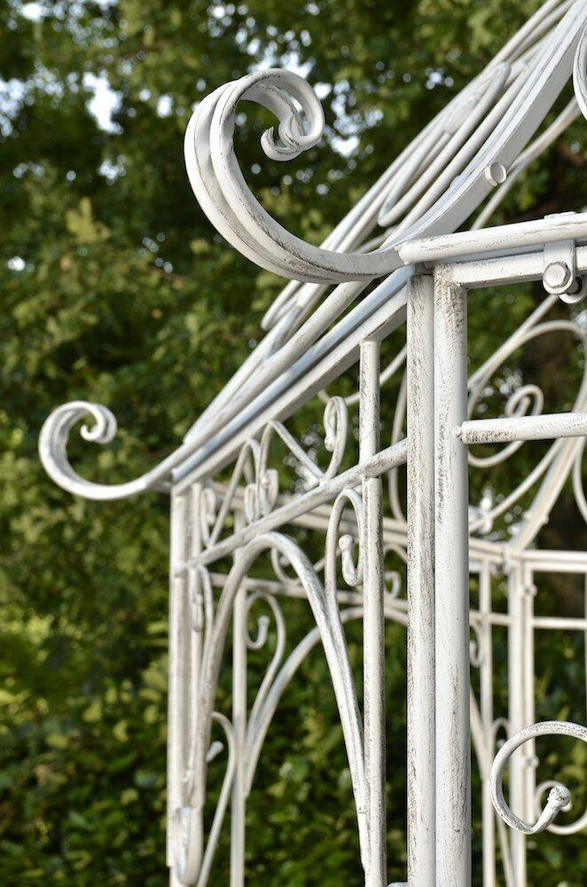 Pavillon Aus Eisen Weiss Rankhilfe Stabil Pergola Rosenbogen
