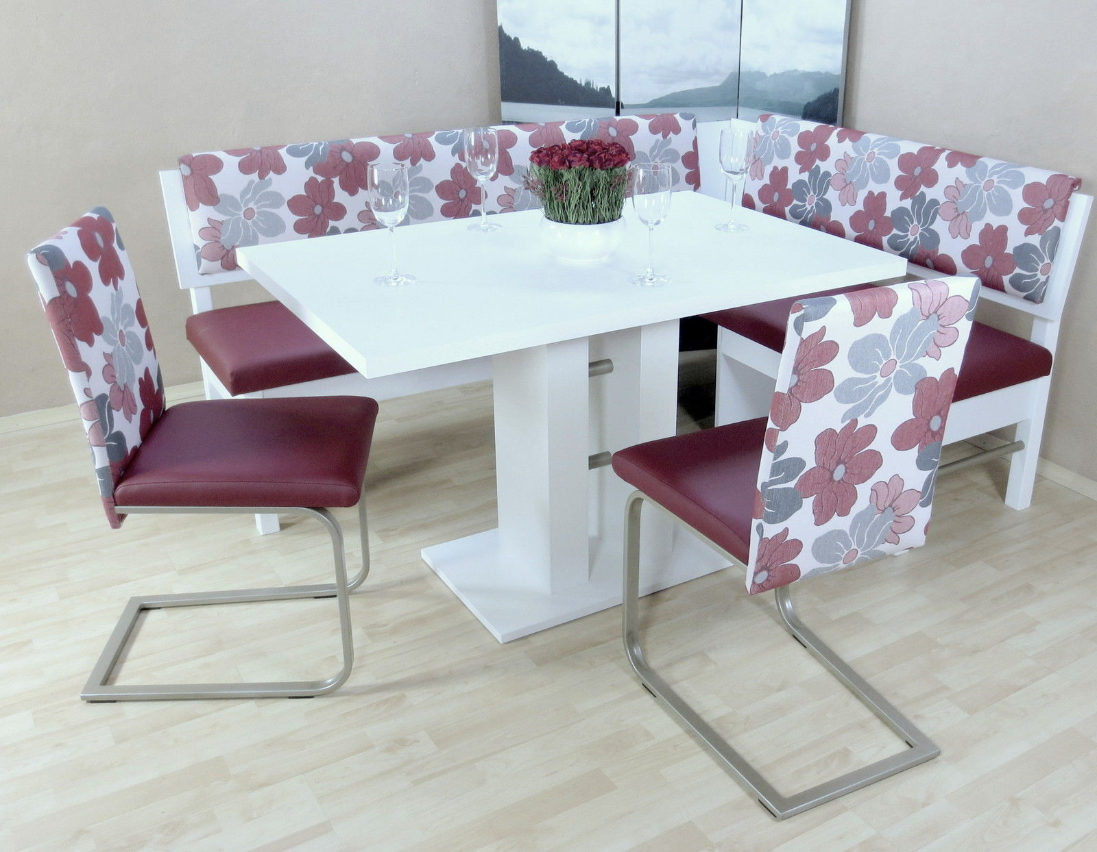 Astounding Moderne Stühle Günstig Referenz Von Dinning-gruppe Bordeauxrot Weiß Eckbankgruppe Tisch Stühle Günstig