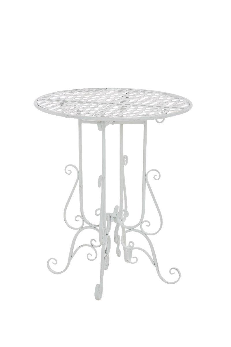 Beistelltisch antik weiß  Beistelltisch antik weiß Gartentisch Beitisch Tisch Terrasse ...