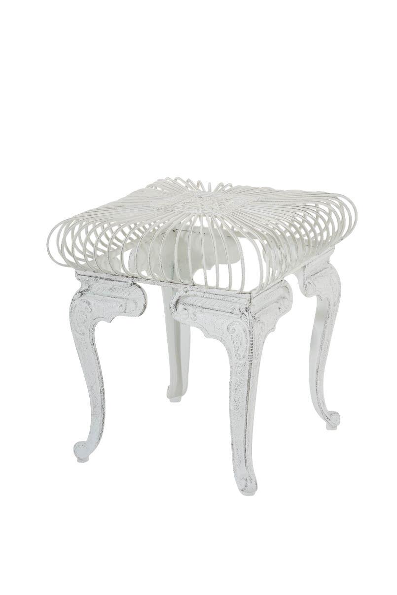 Beistelltisch Antik Weiss Gartentisch Outdoor Tisch Terrasse
